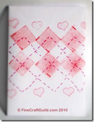 stamped valentine cards argyle