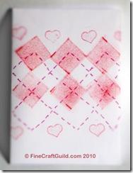 stamped valentine argyle