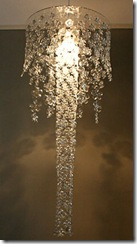 designer recycled plastic bottle lamps and screens