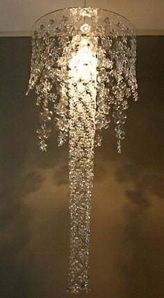 Designer Cascading Flower Lamps & Screens  w/ recycled plastic bottles