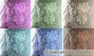 Flirty Flower Triangle Shawl – Simple Free Crochet Pattern
