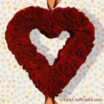 Heart Shaped Wreaths with Felt or Fabric