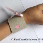 Valentine Friendship Bracelet Cuff – Kids Upcycling