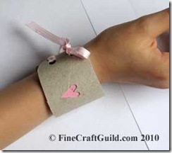 Valentine Friendship Bracelet Cuff – Kids Upcycling