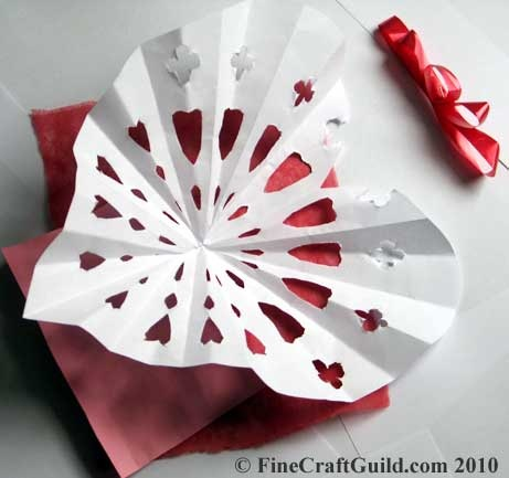 How to Fold a Heart Paper Doily
