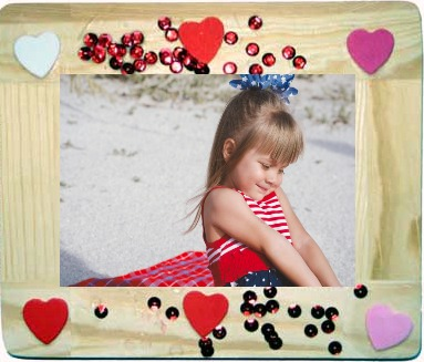 wooden heart frame - Kids Valentines Day Gift