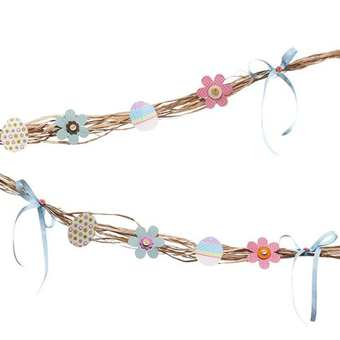 easter paper raffia ribbon garland