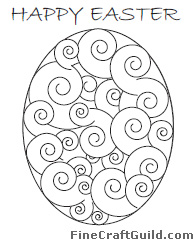 fantasy easter egg coloring page