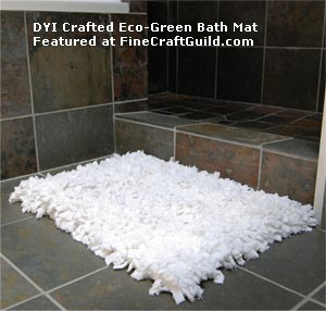 DIY river rocks mats companion: eco bath rug -- free tutorial