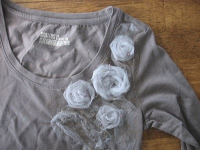 how to design your own tshirt a la Anthropologie