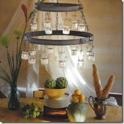 recycled baby food jar chandellier