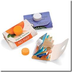 juice carton wallet craft