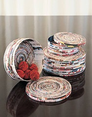 coiled magazine paper box