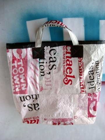 fused recycled plastic bags