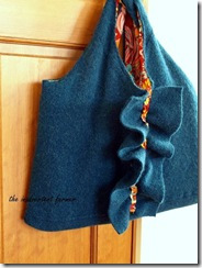 laptop bag from recycled sweater