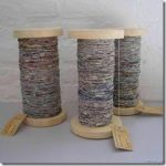 cool recycled crafts :: how to make your own newspaper yarn :: Featured at FineCraftGuild.com