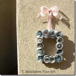 recycled magzine roses wreath