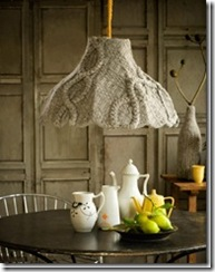 recycled sweater lamp