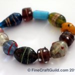 handmade gifts for her - murano glass beads bracelet