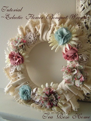 Fabric Rose Wreath Tutorial