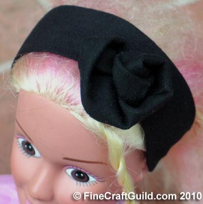 Black Hair Band w Flower :: Refashioning Tutorial