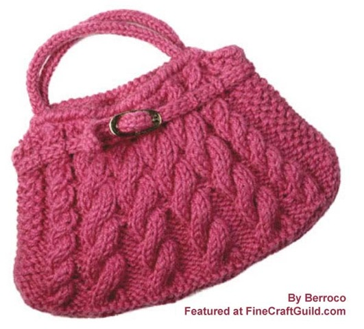 Cable bag free knitting pattern :: featured at FineCraftguild.com