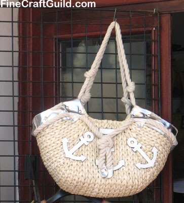 Tote Bag Monday: Nautical Beach Bag