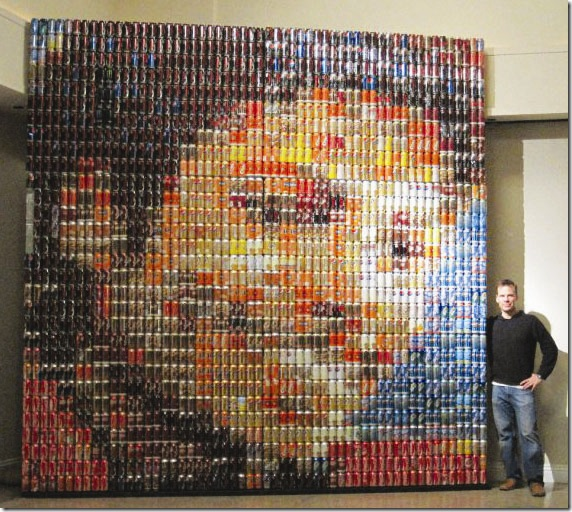 michael jackson portrait recycled materials
