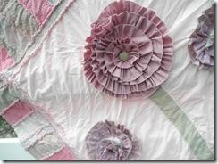 rag flower quilt  free pattern