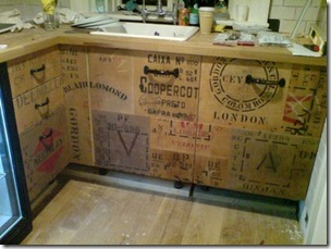 Artsy Recycled Kitchen Storage