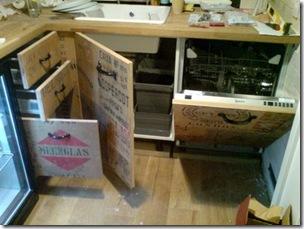 recycled furniture, unique kitchen storage