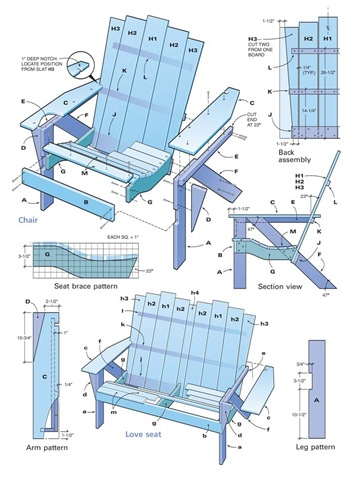 Free Adirondack Chair Plans (Printable)