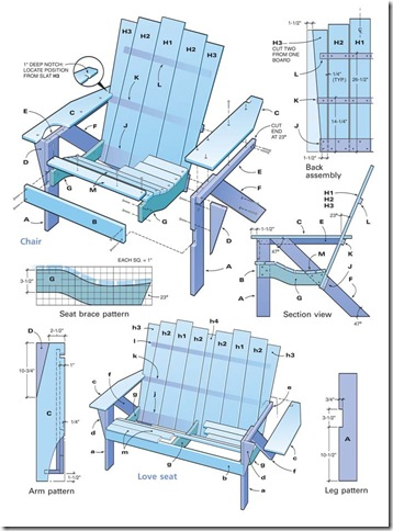 Adirondack Chair Designs modern teak adirondack chair design Free Adirondack Chair Plans Printable
