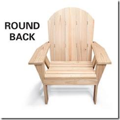 adirondack chair round