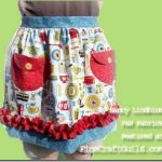 cute apron free sewing pattern