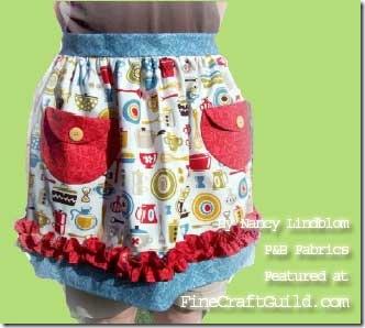 cute apron free sewing pattern