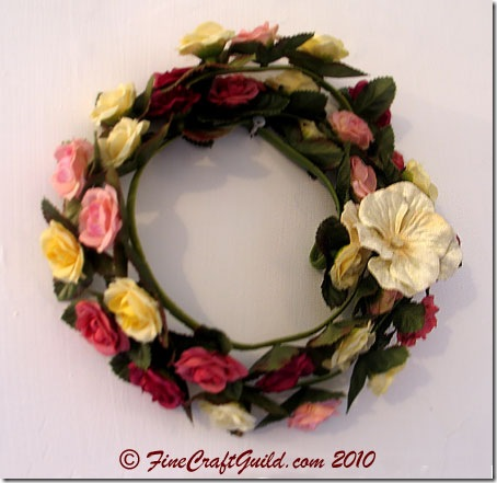 easy flower wreath