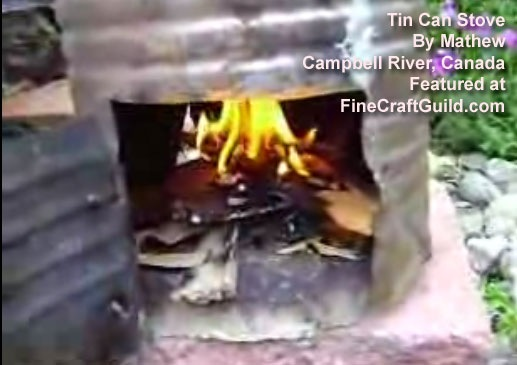 Tin Can Stove DIY