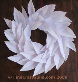 white winter wreath