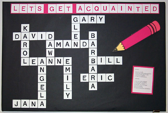 Crossword Noticeboard Back-to-school Ideas :: FineCraftGuild.com
