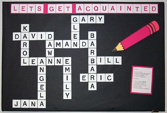 Crossword Noticeboard Back-to-school Ideas :: FineCraftGuild.com