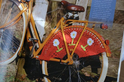 crochet bike fashion with flowers