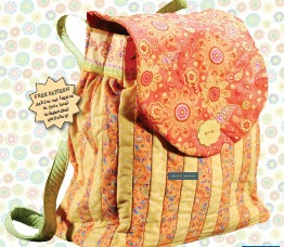Quilted Backpack Pattern - Featured at FineCraftGuild.com