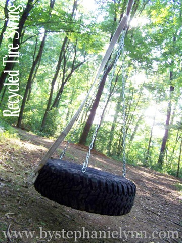 DIY Recycled Tire Swing