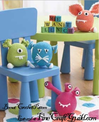 Amigurumi Monster Animals crochet patterns