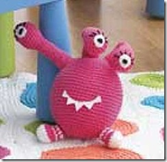 pink crochet monster