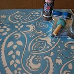rug stenciling howto