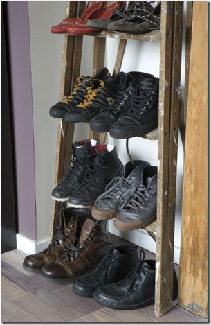 shoe rack ladder, photo trine thorsen
