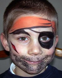 boy pirate face painting designs
