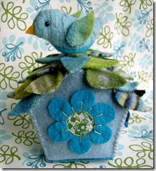 felt ornaments birdhouse